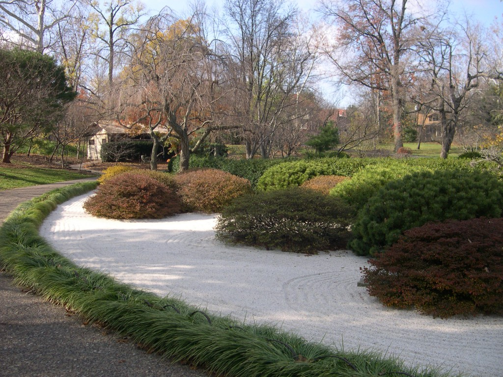 Plant groups can help create natural feeling for Formal japanese garden