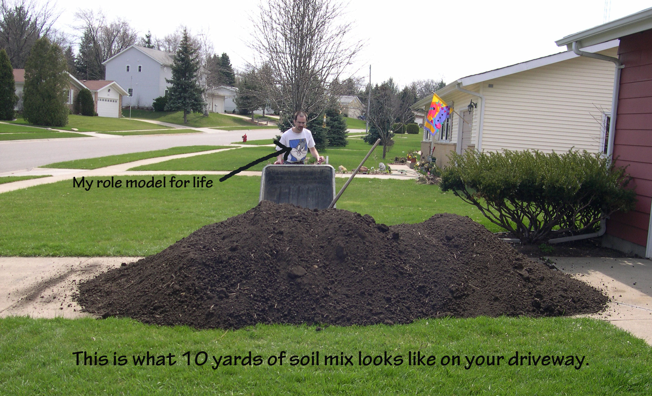 Add interest with berms for How much to landscape a yard