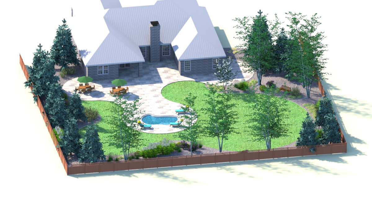 Garden Design Birds Eye View backyard for bird watchers landscape design