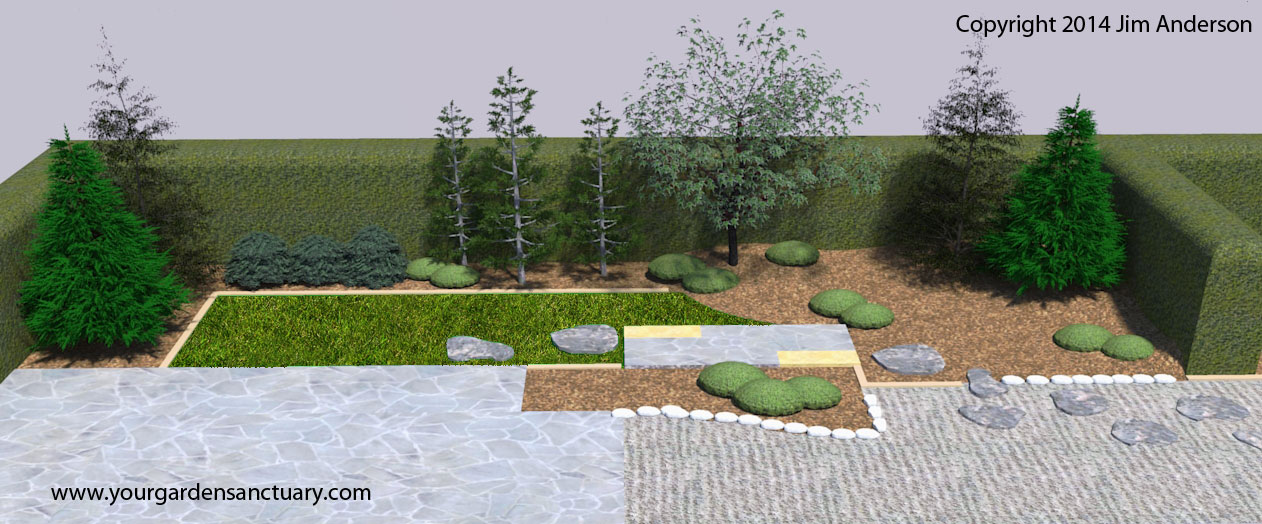 Small backyard japanese garden part 4 of 5 for Japanese garden designs for small gardens