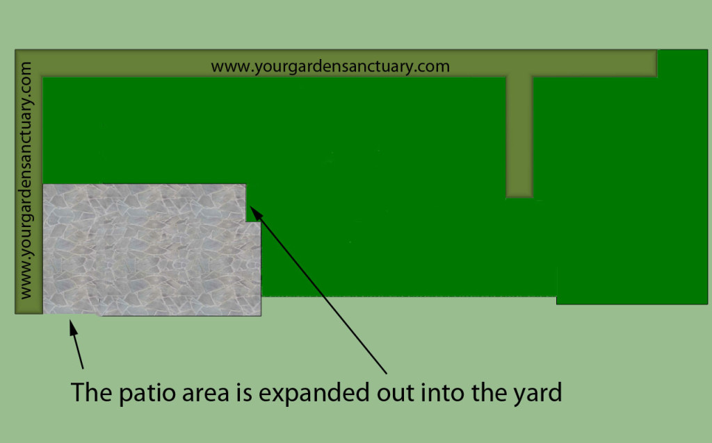 Japanese-garden-for-small backyard with paved area extended