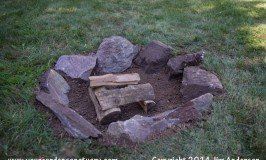 Cheap easy fire pit done
