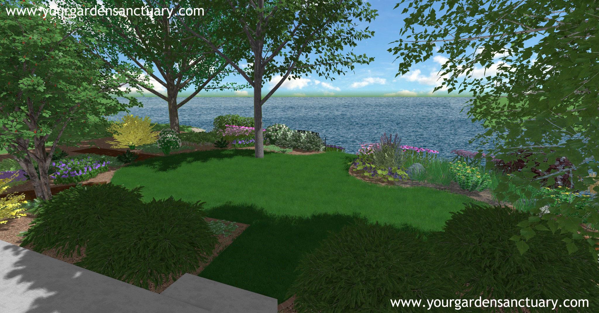 backyard landscape design finished