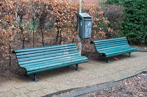 blue bench photo