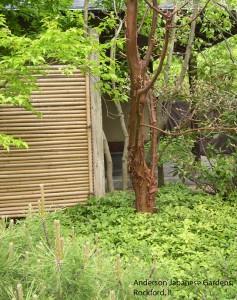 Garden structure - bamboo panel