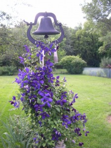 Garden structures - bell with clematis