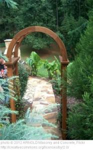 Garden structure - garden arbor