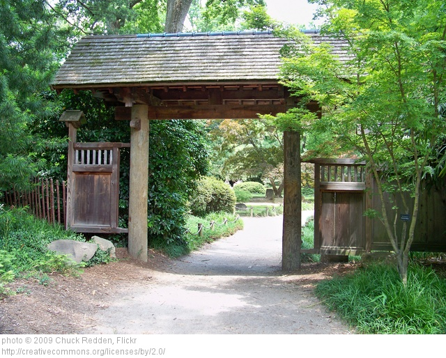 Garden structure - Open gate