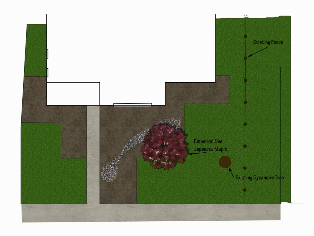 Front yard design walnut
