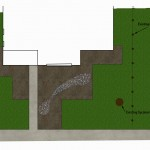 Front yard design for a yard with Black walnuts Part 1 of 2