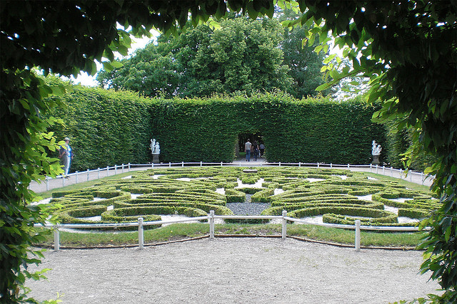 Enclose your garden with a formal hedge