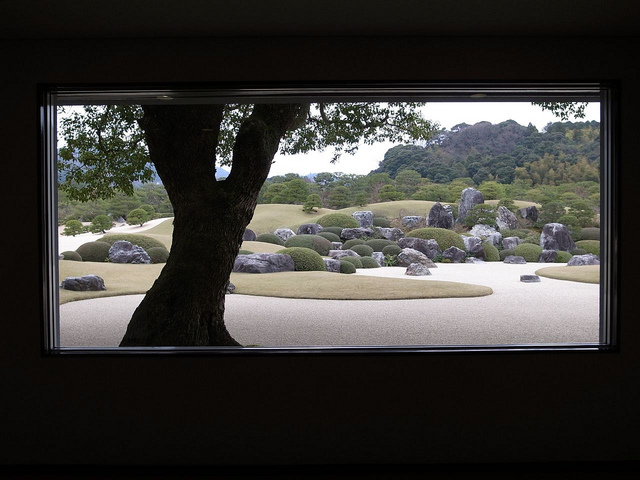 Integrating your house and landscape Adachi Museum of Art Japanese garden