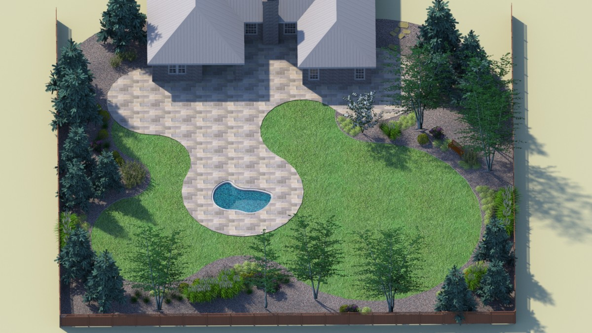 Curvilinear landscape design could look from above