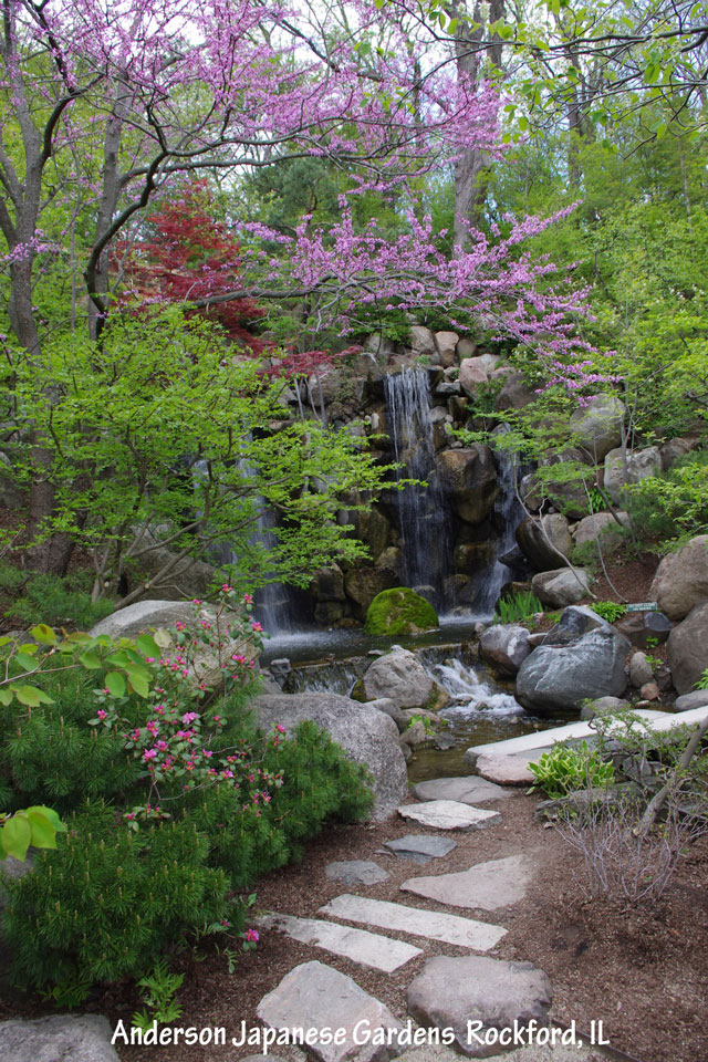 Integrating your house and landscape Japanese garden waterfall obscured