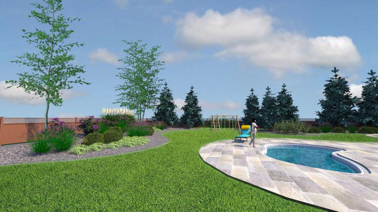 Curvilinear landscape design view 2