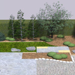 Small backyard Japanese garden part 3