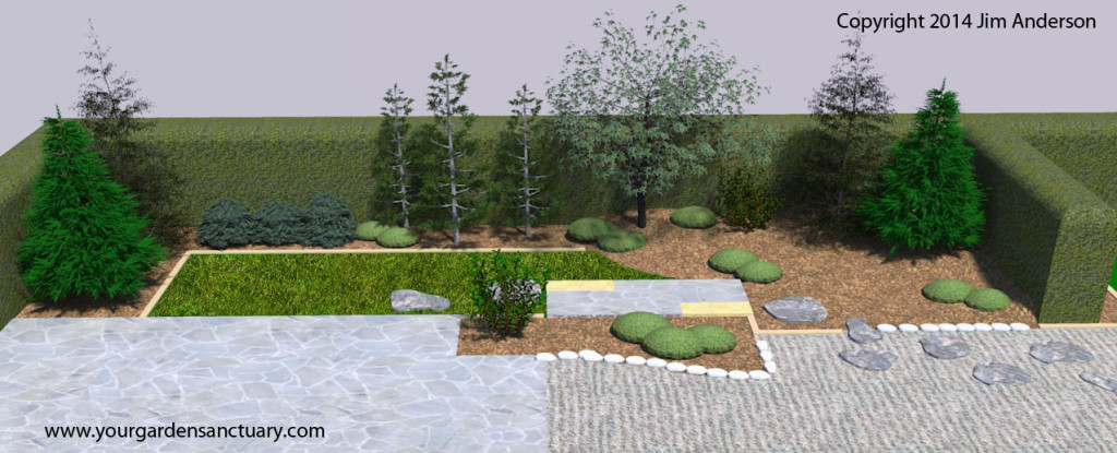 Japanese garden Arctic fire Dogwood added