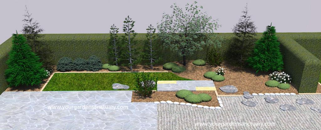 Japanese garden oakleaf hydrangea added