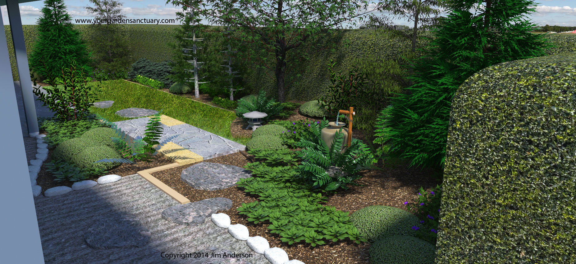 Adding a tsukubai to finish up our small backyard japanese for Japanese garden backyard designs