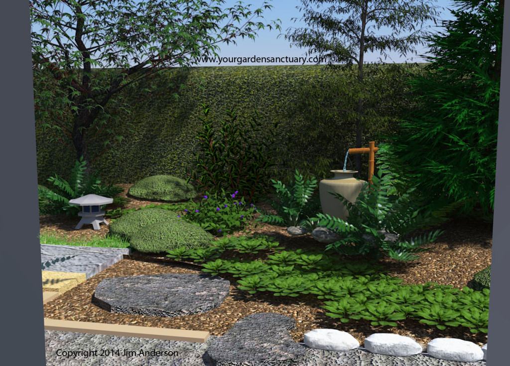 Adding a tsukubai to finish up our small backyard japanese - Japanese garden water basin ...