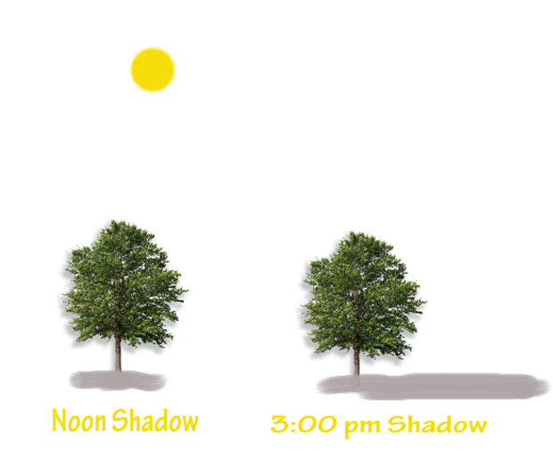 How close can you plant a tree from your house shade patterns