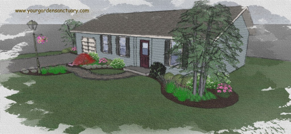 Naturalistic Front yard vs Landscapy design
