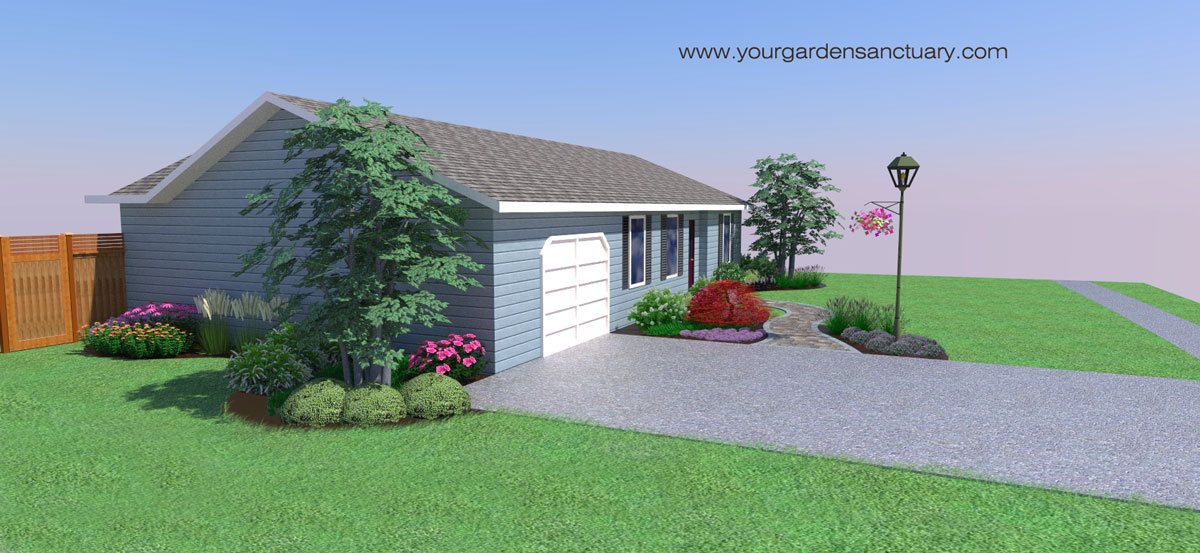 Landscapers Front yard render side yard