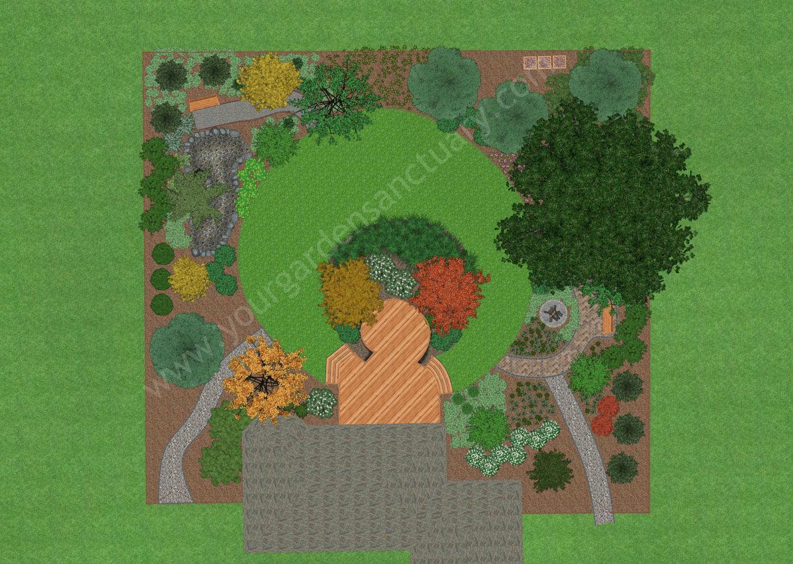 Bakcyard ecological landscape design