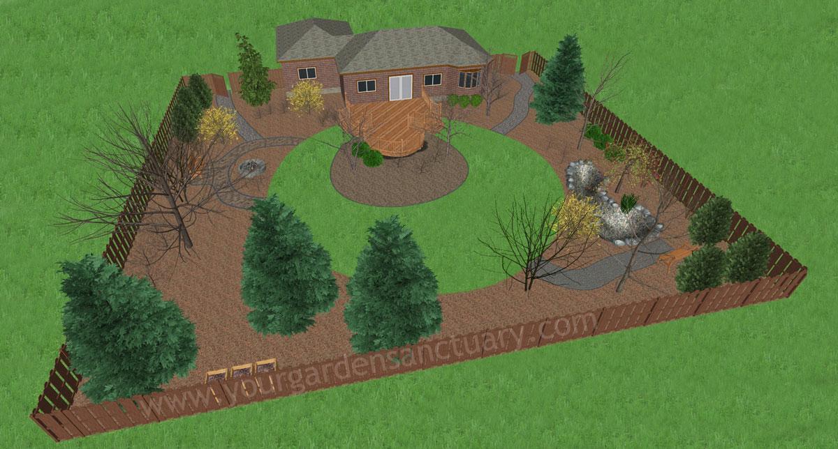 Winter Ecological Backyard design