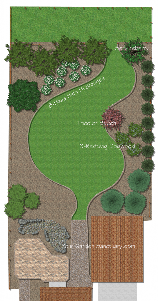 Shrubs added to Backyard Ecological Landscape Design