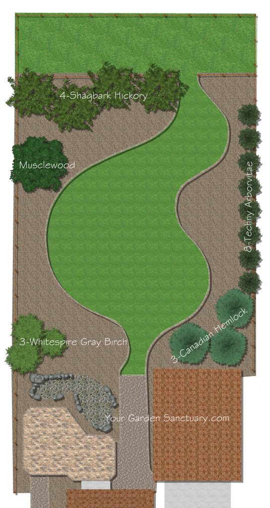Trees added to ecological landscape design