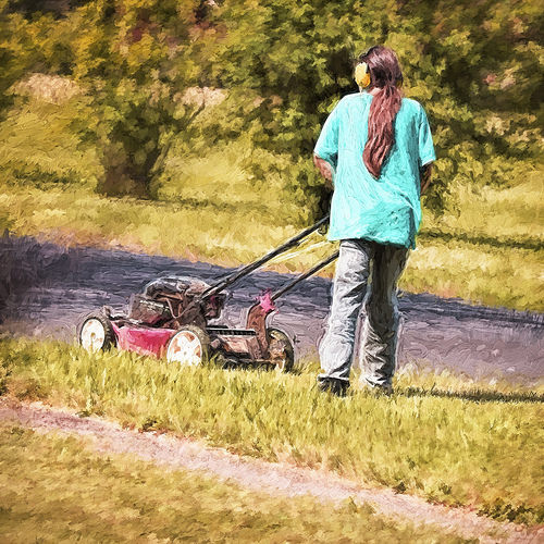 Landscaping for your grandchildren lawn mower