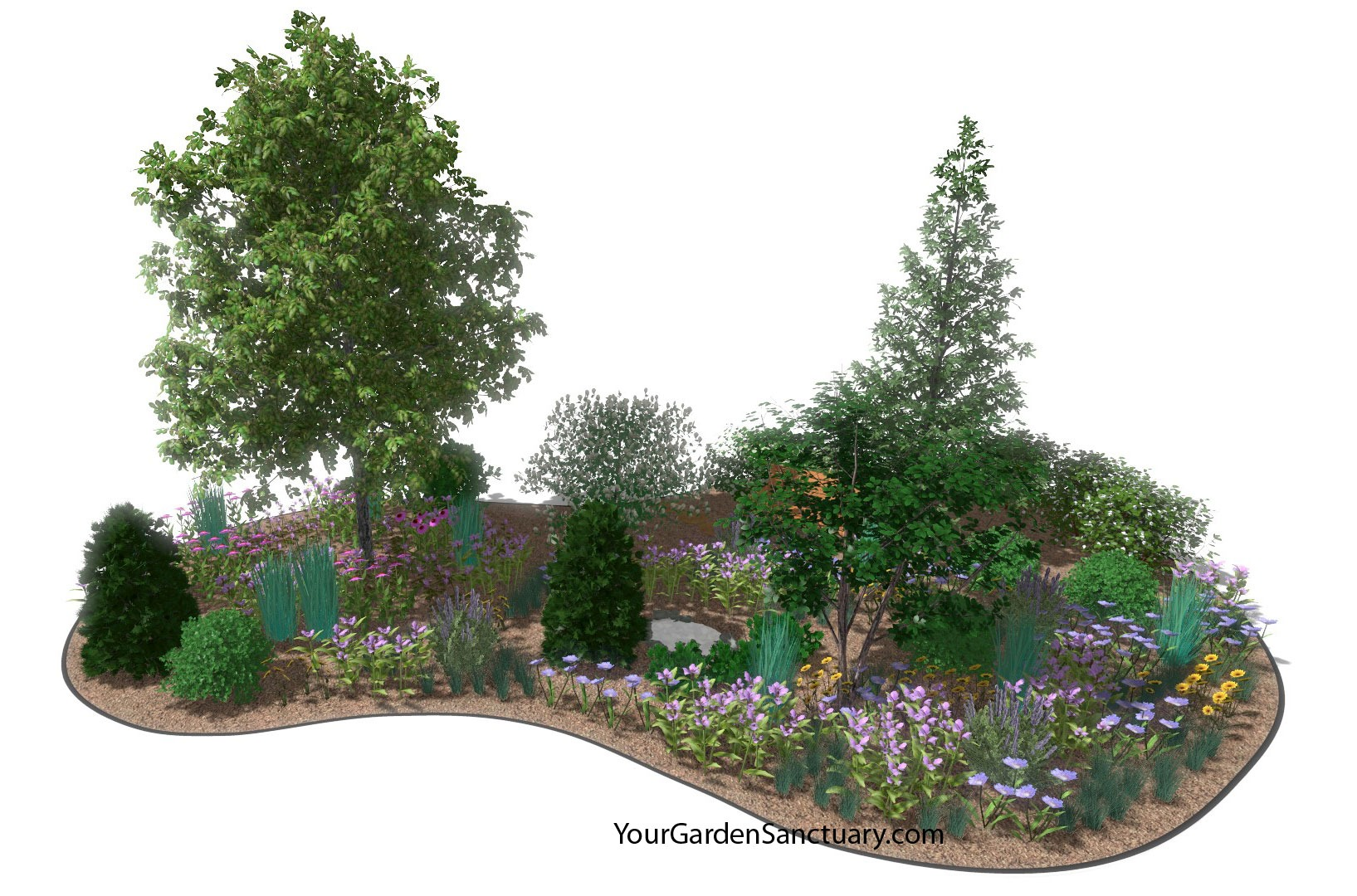 Concept Rendering of Ecological Planting Plan completed